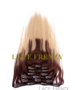 Two Toned - Virgin Human Hair - 8pcs Clip-In Hair Extension