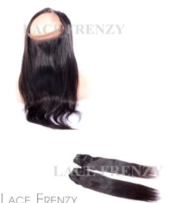 Indian Remy Hair - Straight - 360 Frontal with 2 Bundles
