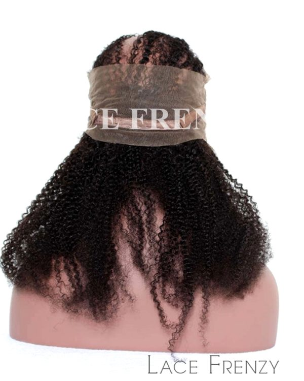 Virgin Human Hair - Afro Kinky Curly- 360 Band Lace Frontal