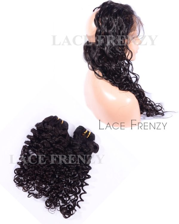 Virgin Hair - Curly - 360 Frontal with 2 Bundles