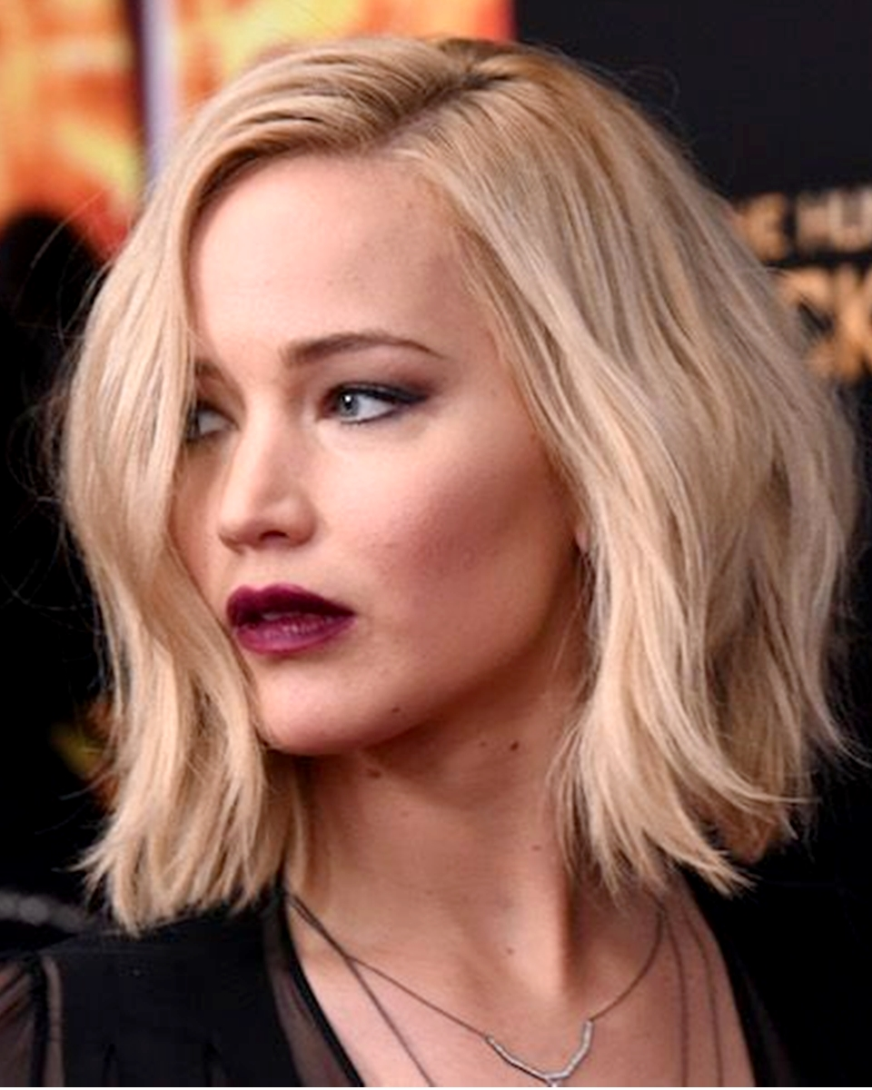 Jennifer Lawrence Bob Styled Custom Celebrity Lace Wig Lace