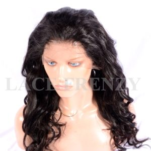 Kat- Loose Curls- Virgin Human Hair- Full Lace Wig w/Thin Skin