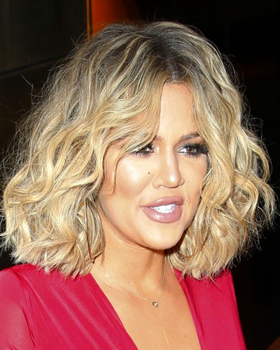 Khloe' Kardashian - Loose Wave -Bob Cut - Custom Celebrity Lace Wig