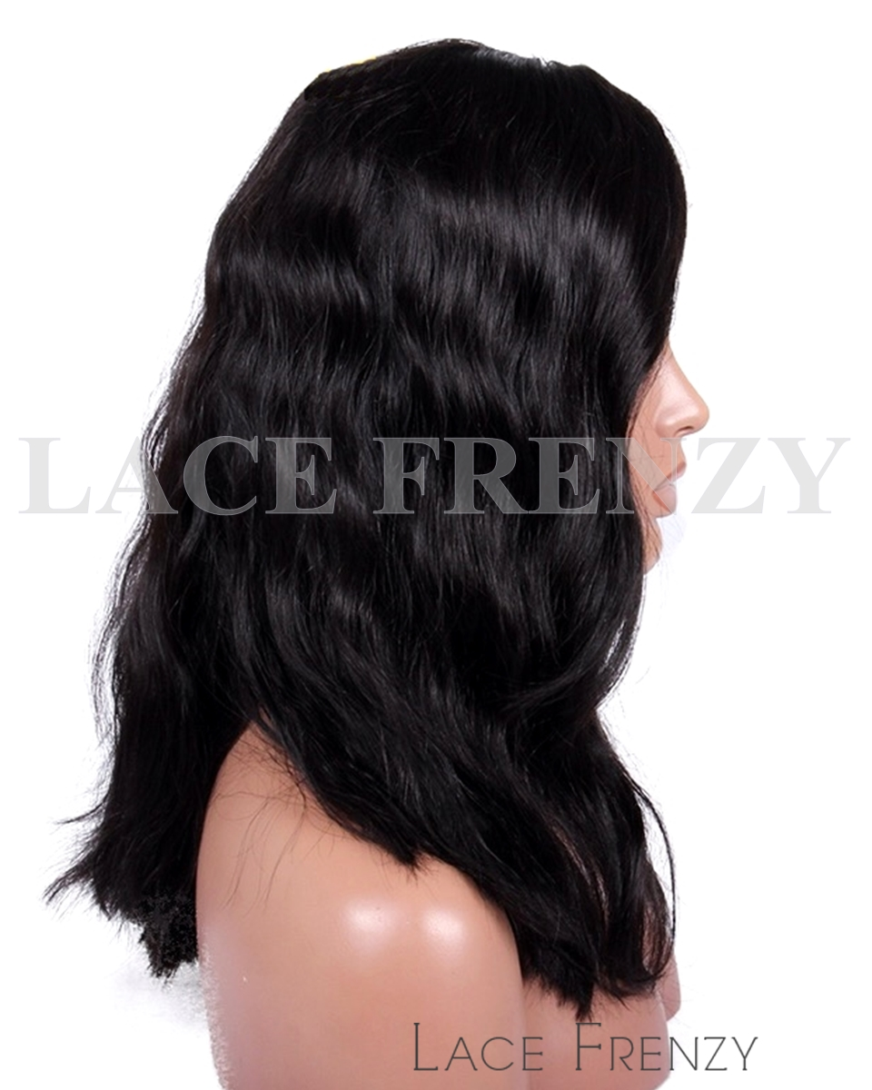 Maurissa - Slight Wavy w/ Side Bang- Indian Remy Hair Full Lace Wig