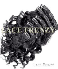 Virgin Human Hair - Loose Curl - 7pcs Clip-In Hair Extension