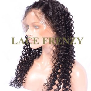 Virgin Human Hair - Deep Wave - Silk Base 360 Lace Frontal