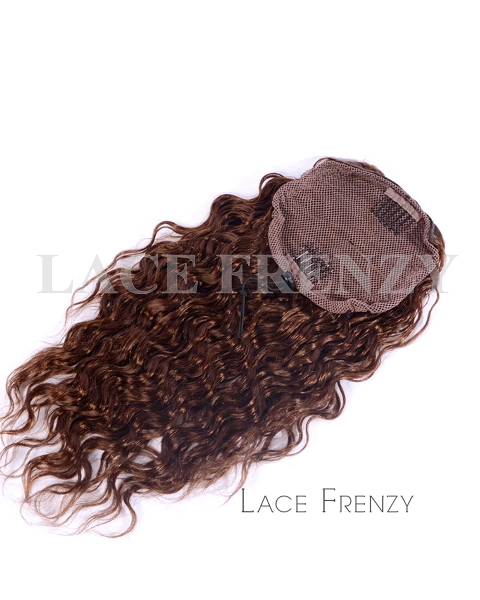 Virgin Human Hair - Wavy - Drawstring Ponytail