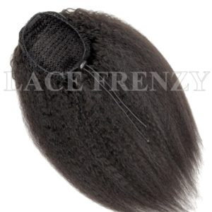 Virgin Human Hair Kinky Straight Ponytail