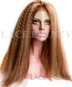 Wendi- Kinky Straight- Brazilian Virgin Hair - Full Lace Wig
