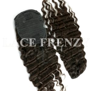 Virgin Human Hair Deep Wave Drawstring Ponytail Hair Extension