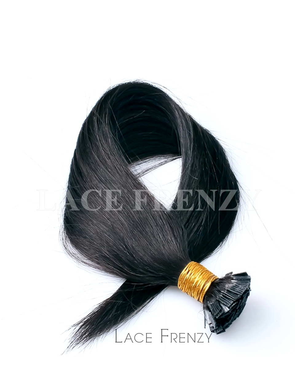 Light Yaki -100g Flat Tip Virgin Human Hair Extensions