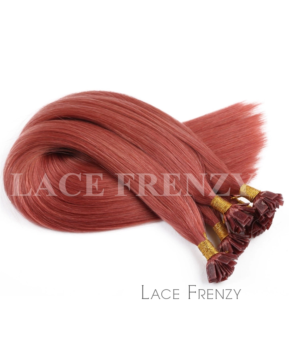 Straight - 100g Flat Tip Human Hair Extensions