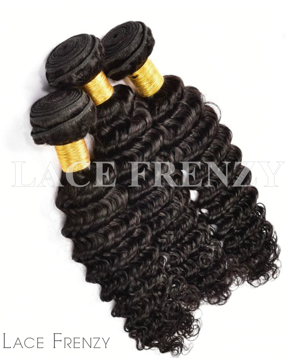 Peruvian Virgin Hair - Deep Wavy - Layered Machine Weft Bundle Kit