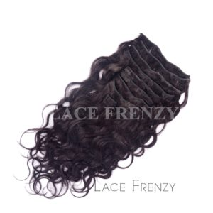 Indian Remy Human Hair - Natural Wavy - 10pcs Clip-In Extension