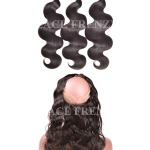 Body Wave -Virgin Human Hair - 360 Frontal with 3 Bundles