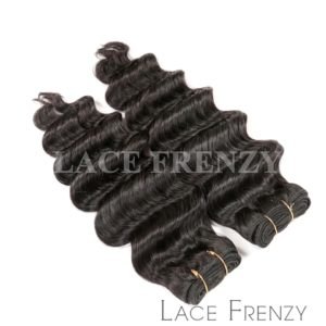 Deep Wave- Grade 10a Virgin Human Hair -200G Machine Weft Bundle