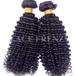 Kinky Curly Grade 10a Virgin Human Hair -200G Machine Weft Bundle