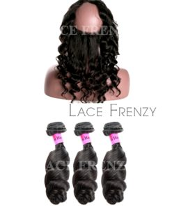 Loose Wave -Virgin Human Hair - 360 Frontal with 3 Bundles