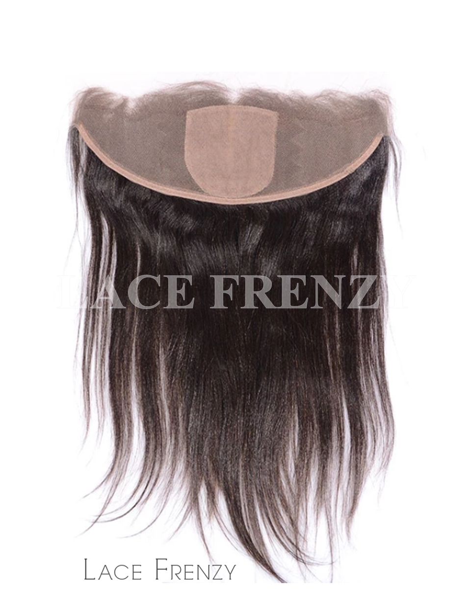 Straight- Virgin Human Hair - 13x4 Inches Silk Base Lace Frontal