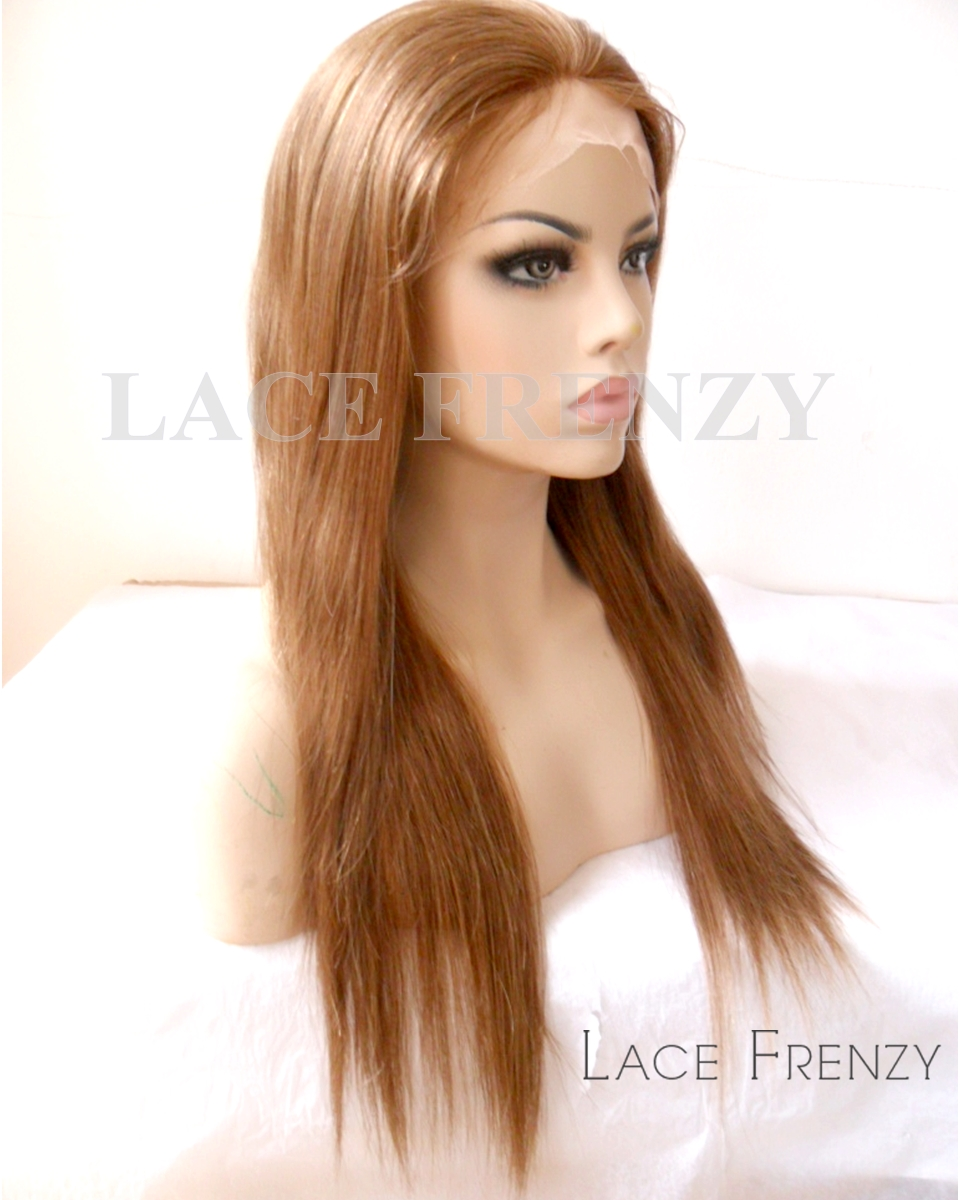 Glory - 18 inches Silky Straight Indian Remy Hair Lace Front Wig