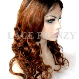 Kimbella- 20 Inches Indian Remy Hair Two Toned Lace Front Wig
