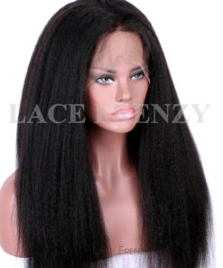Virgin Human Hair - Kinky Straight- 360 Frontal Wig