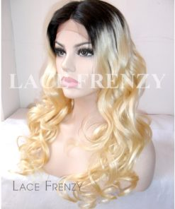Rasheeda - 20 Inches Two Toned Loose Wave Brazilian Virgin Hair Lace Front Wig