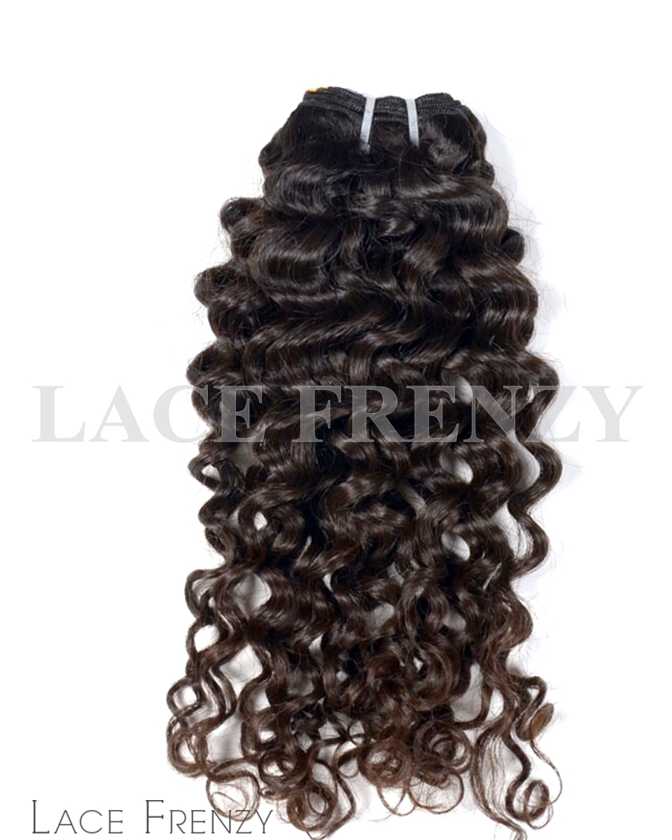 Curly- Raw Indian Human Hair 100G Machine Weft