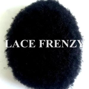 Indian Hair - 7x9 Inches - Afro Curl - Full Lace w/ Pu Perimeter Men Toupee