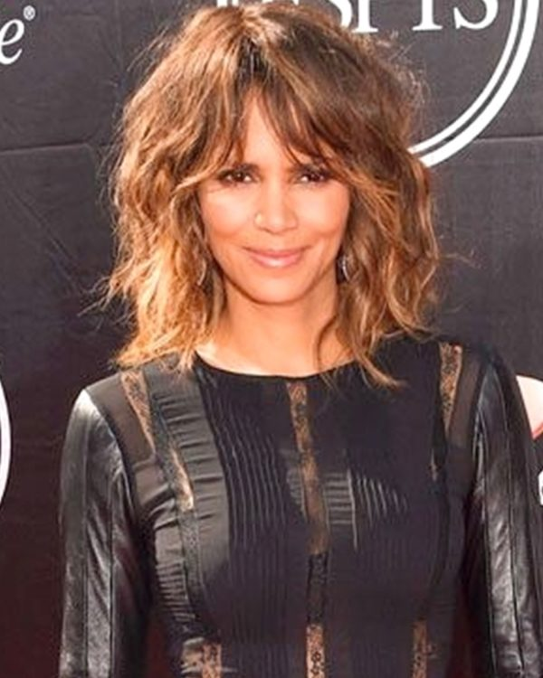 Halle Berry - Layered Bob with Hand-tied Bang - Custom Celebrity Lace Wig