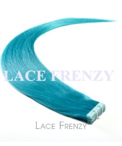 Virgin Human Hair - Blue - Straight- 20Pcs -Tape Hair Extension