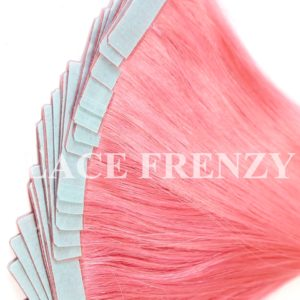 Pink - Straight - 40Pcs -Double Drawn Tape-In Hair Extension