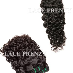 Peruvian Virgin Hair Water Wave 4x4 Inches Top Closure and 300G- Layered Machine Weft Bundle Kit