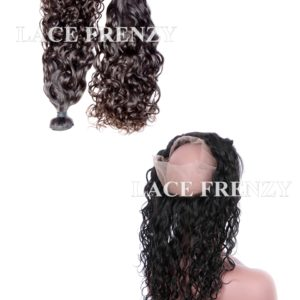 Virgin Human Hair - Water Waves- 360 Frontal with 2 Bundles