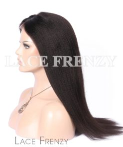 Light Yaki -Virgin Human Hair- Full Lace Wig w/Thin Skin