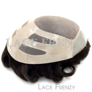 Indian Hair 8x10 Inches Fine Mono w/ PU Base- Men Toupee