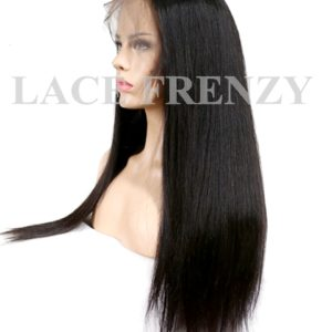 Indian Remy Human Hair - Straight- 360 Frontal Wig