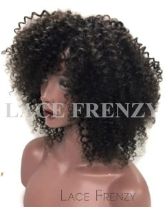 Irma - Kinky Curly - Brazilian Virgin Hair - Lace Front Wig