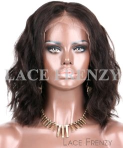 Lynnette - Natural Wavy Bob Style- Brazilian Virgin Human Hair - Lace Front Wig