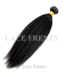 Kinky Straight - Grade 8A Virgin Hair -100G Machine Weft