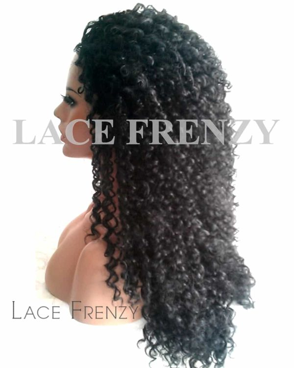 Kinky Curly - 22 Inches - 3/4 Synthetic Machine Made Half Wig