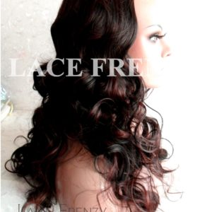 Body Curls with Highlights - 22 Inches - 3/4 Synthetic Machine Made Half Wig