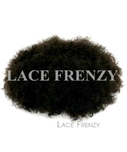 Custom Indian Hair - 7x9 Inches - Kinky Curly Full Lace w/ Pu Perimeter Men Toupee