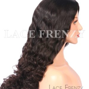 Custom Wavy Brazilian Virgin Hair Kosher Jewish Wig
