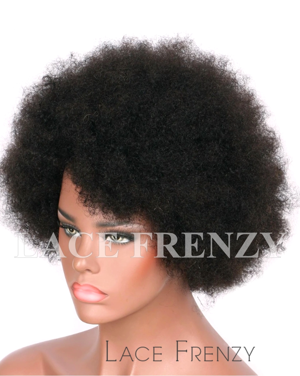 Lilith - Afro - Indian Remy Hair - Machine Made Wig