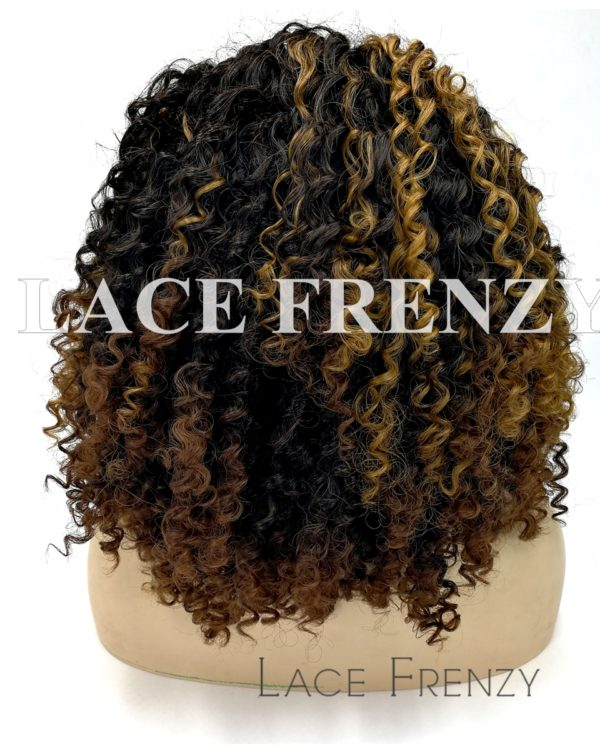 Ladie - Tight Curl Two Toned Lace Front Wig