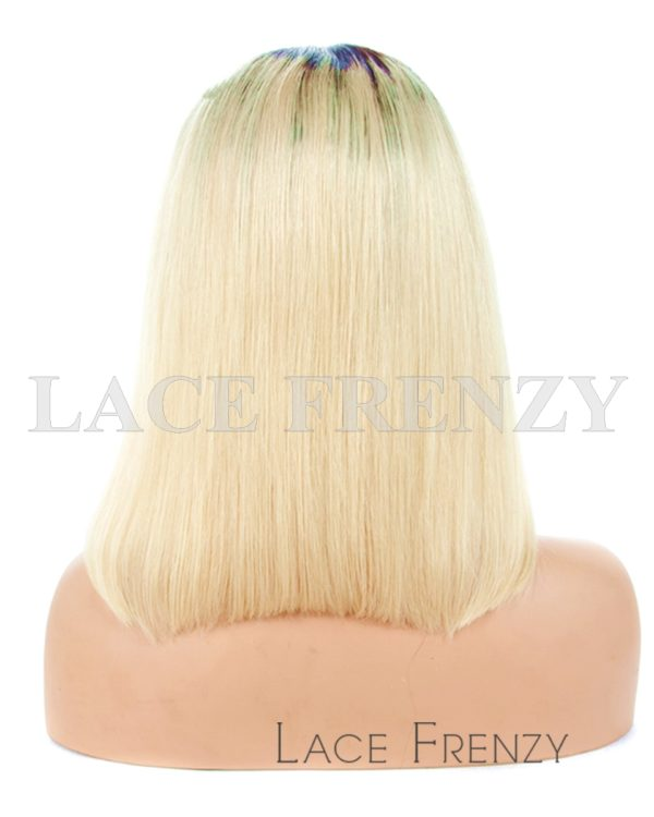 Adellisa - Two Toned Bob Styled Brazilian Hair Lace Front Wig