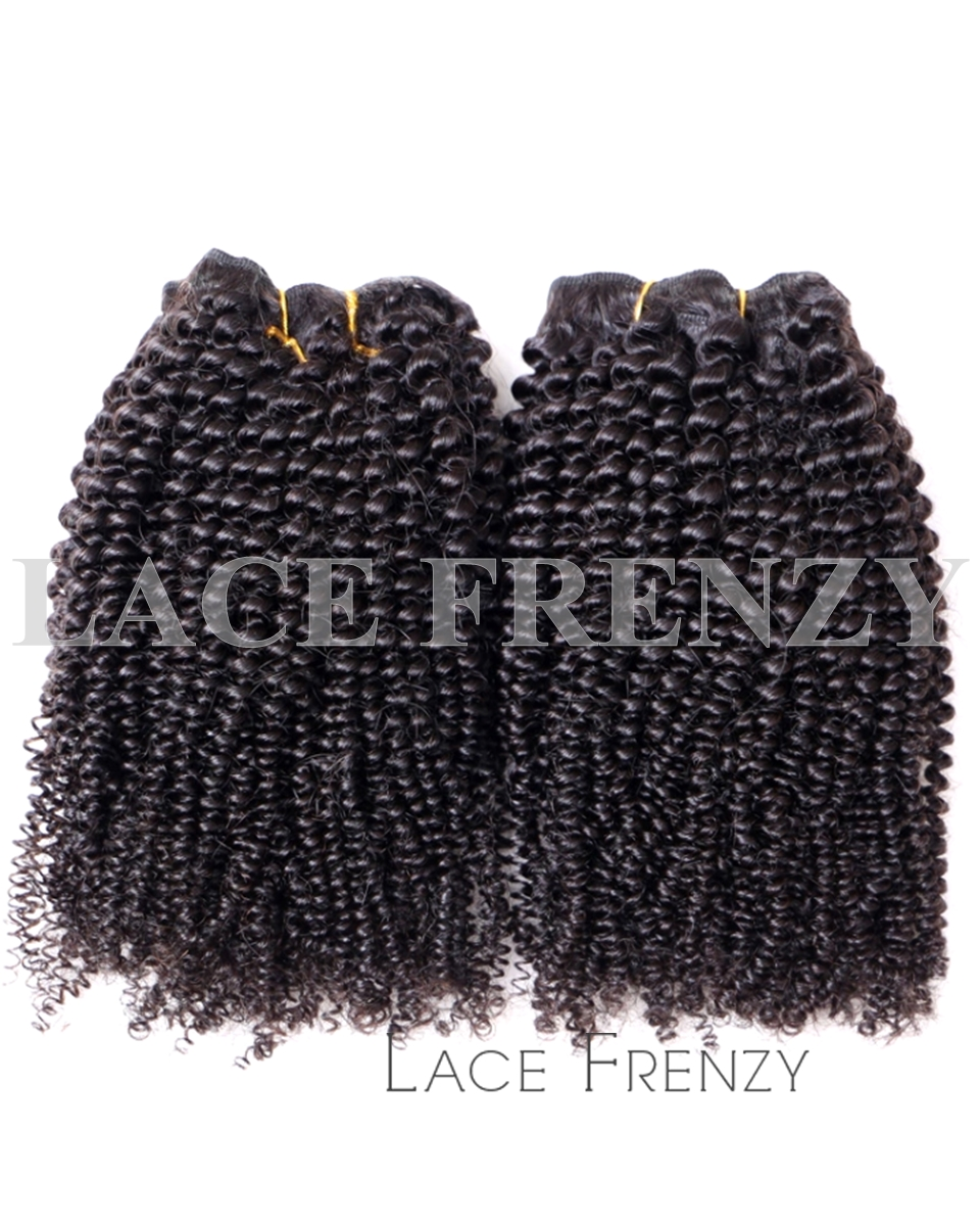 Kinky Coily - Grade 10a Virgin Human Hair -200G Machine Weft Bundle