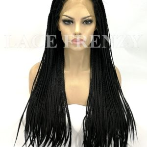 Misty - 22 Inches - Box Braids - Lace Front Wig