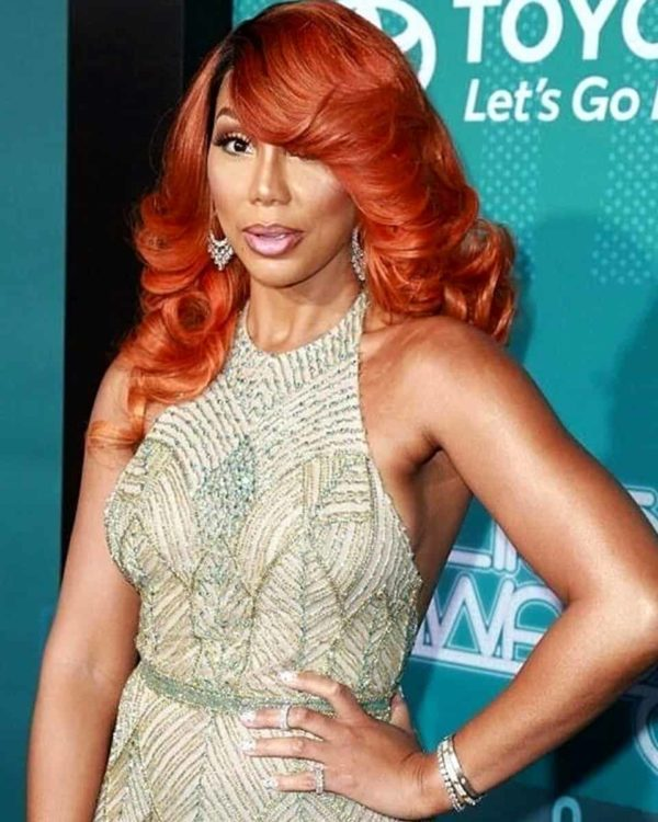 Tamar Braxton - Body Curl w/ Handtied Bang Custom Celebrity Lace Wig